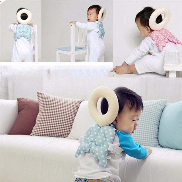 New Baby Head protection pad Toddler headrest pillow baby neck Cute wings nursing drop resistance cushion baby protect Hot Sale
