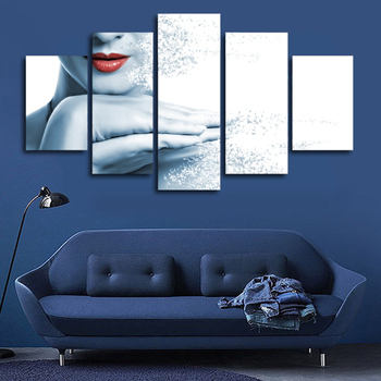 2017 New Year Decor Canvas Painting Lips Woman Disintegrating Wall Pictures For Living Room Cuadros Decoracion Modular Pictures