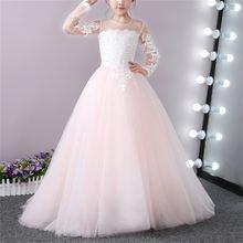 Новинка 2017 красивые платья для девочек с цветами на свадьбу