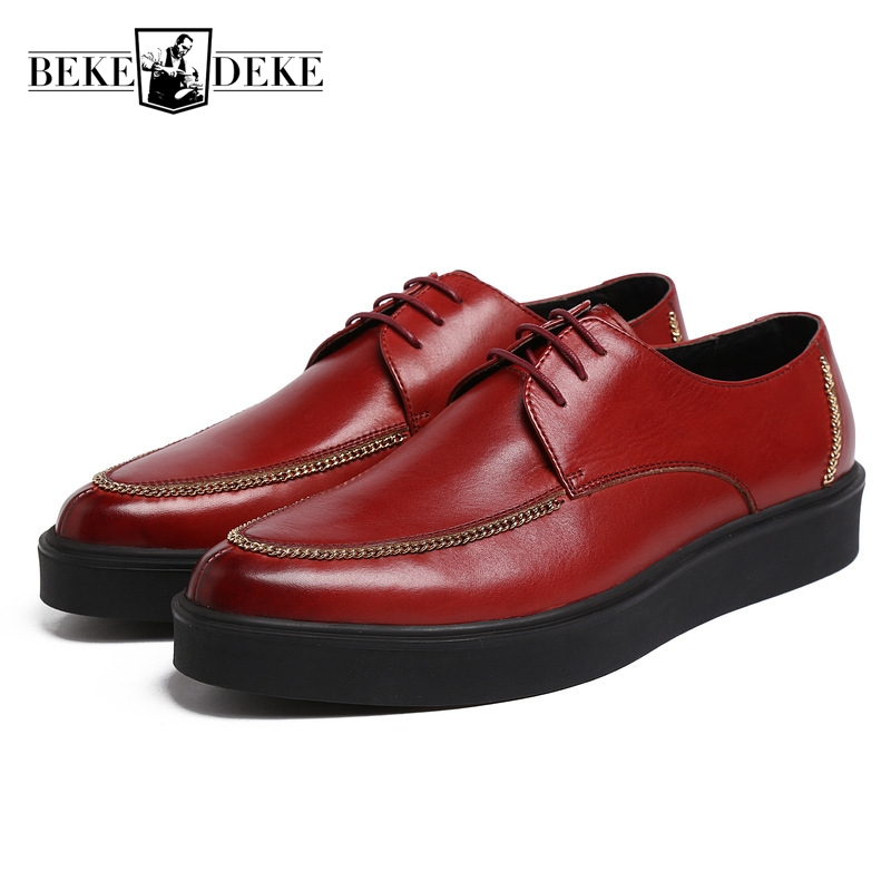 Comfortable Breathable Fashion Men Casual Shoes Genuine Leather Lace Up Thick Bottom Plat Male Footwear Business Shoes Plus Size genuine leather men casual shoes plus size comfortable flats shoes fashion walking men shoes