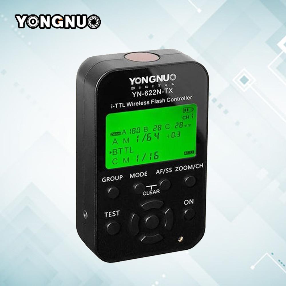 Yongnuo YN622N-TX LCD Wireless i-TTL Flash Trigger Controller Flash Transceiver Receiver YN-622N-TX For Nikon SB-800 SB-600 2pcs yongnuo yn622n ii yn622n tx i ttl wireless flash trigger transceiver for nikon camera for yongnuo yn565 yn568 yn685 flash