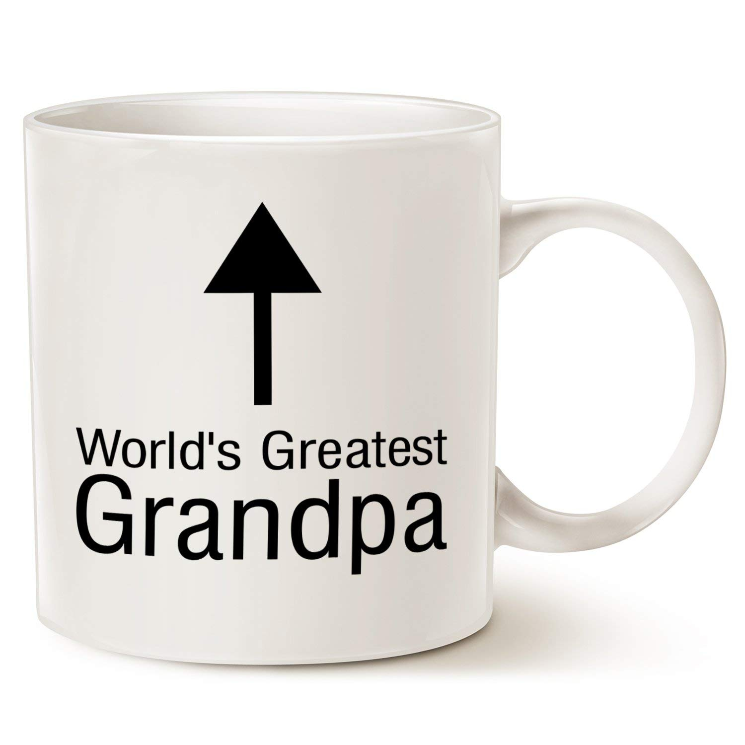 Funny Grandpa Coffee Mug Christmas Gifts Worlds Greatest Arrow Porcelain Cup White Best Birthday