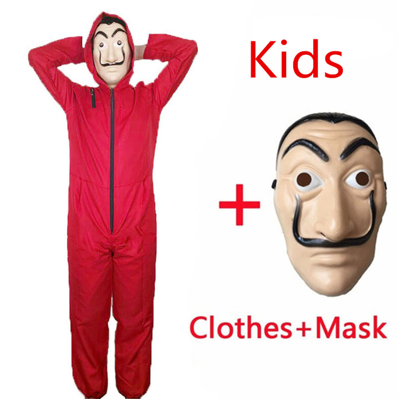 Salvador Dali Money Heist The House of Paper La Casa De Papel Cosplay Halloween Costumes Mask for kids adult