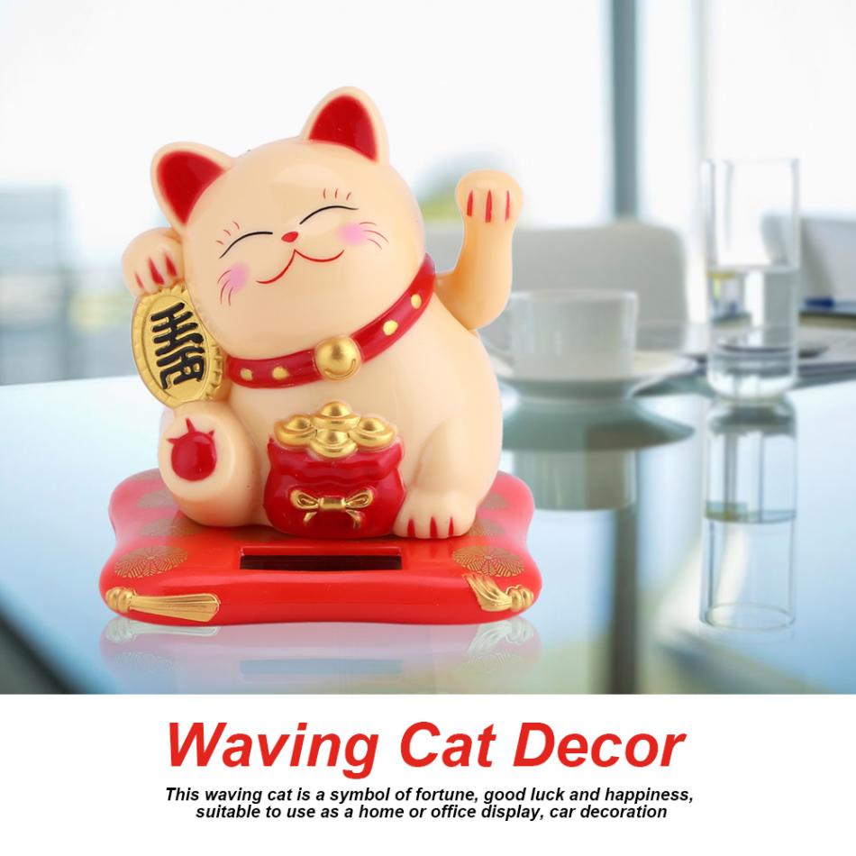 Chinese Lucky Wealth Waving Hand Cat Feng Shui Welcoming Cats For