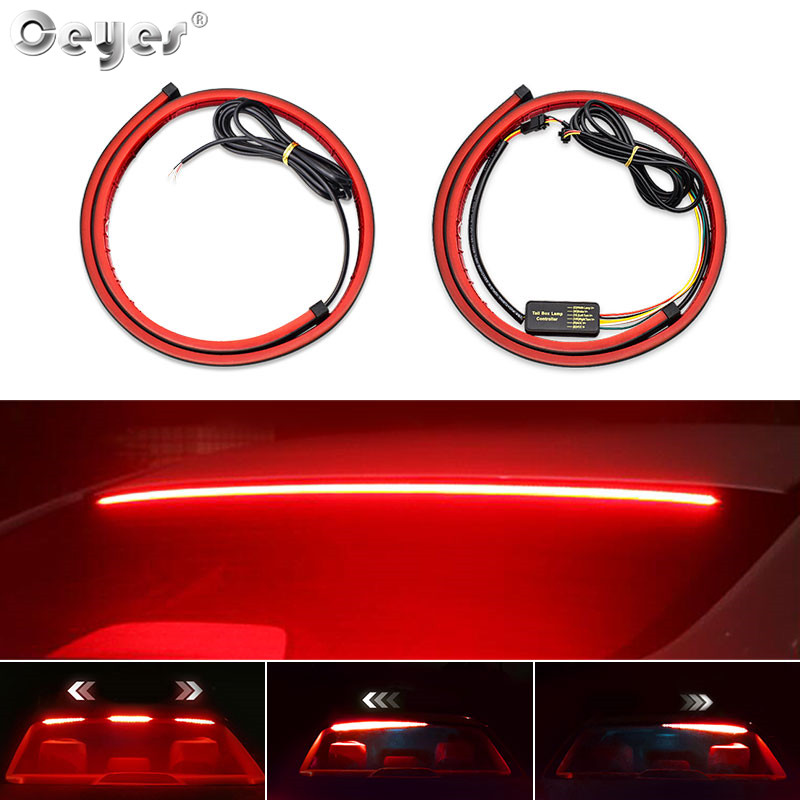 Ceyes 1000mm Auto High Mount Brake Stop <font><b>Lights</b></font> Accessories <font><b>Car</b></font> Styling High Additional Brake Lamp Warning Turn Signal LED Strips image