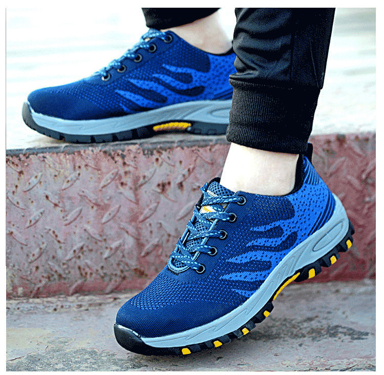 Anti-smashing and puncture safety shoes, safety shoes, men and women, lightweight protective shoes, work shoes women and men anti slip anti hit safety shoe covers anti smashing steel toe cap covering protective overshoes