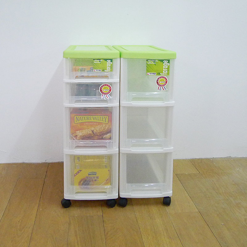 tenma day melphalan clean plastic narrow version with four wheel mobile transpa drawer storage cabinets racks