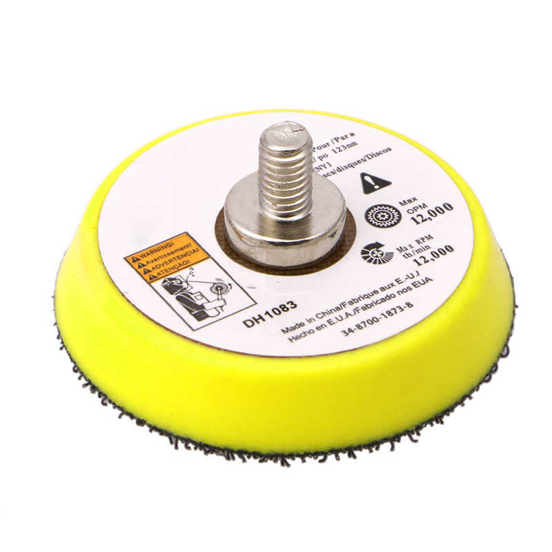 "ขัด Sander Backer Plate Napping Hook Loop Sanding Disc Pad 3 ""75 MM G08 คุ้มค่าเมษายน 4"