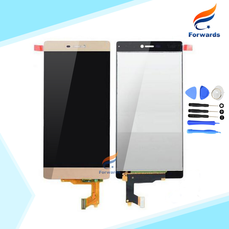Brand new replacement parts for Huawei Ascend P8 Lcd Screen Display with Touch Digitizer + Tools Assembly 1 piece free shipping brand new lcd display touch screen digitizer assembly for huawei ascend p8 lite replacement parts