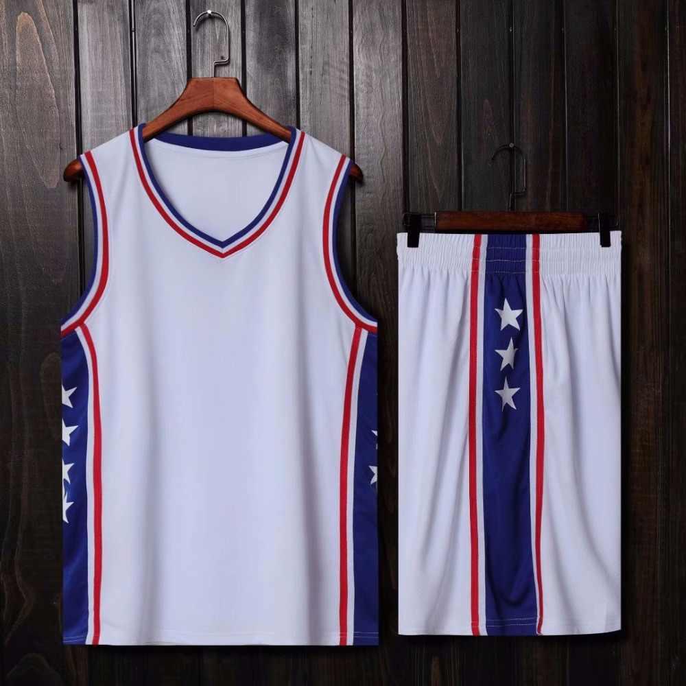 e162b8b6a ... Men Kids Basketball Set Uniforms kits college Basketball Jerseys Sports  Suits DIY Customized Training suits Wear ...