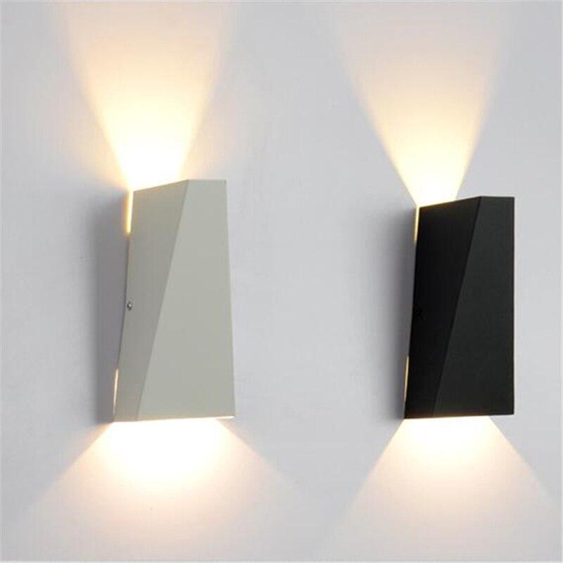 Branco/Preto Nordic Lâmpada de Parede Espelho Do Banheiro Luminárias Decoração Sala de estar de Design Moderno Levou lâmpada de Leitura Lâmpada WLL 317 - 2