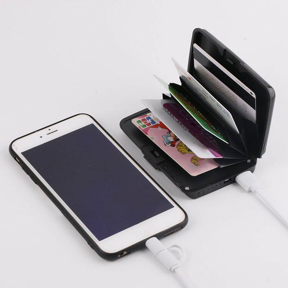 <font><b>2</b></font> in <font><b>1</b></font> E-Charge Wallet Wallets And Purses Ladies Clutch Coin Wallet Power Bank Pocket Charger image