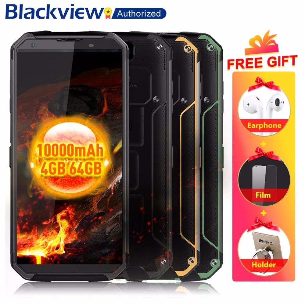 Blackview BV9500 4G téléphone portable Android 8.1 Octa base 5.7 18:9 MTK6763T 4 GB RAM 64 GB ROM IP68 étanche Smartphone NFC OTG
