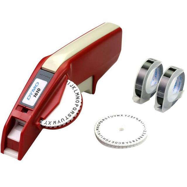 Máquina de etiquetas DYMO 1610 precio de la máquina DYMO, cinta de letras de frotando 3D etiqueta impresora Xpress Manual etiqueta de la máquina