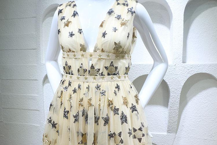 HTB1J R.PFXXXXb1apXXq6xXFXXXe - Summer Dress  Star Beads Jacobs Deep V JKP064