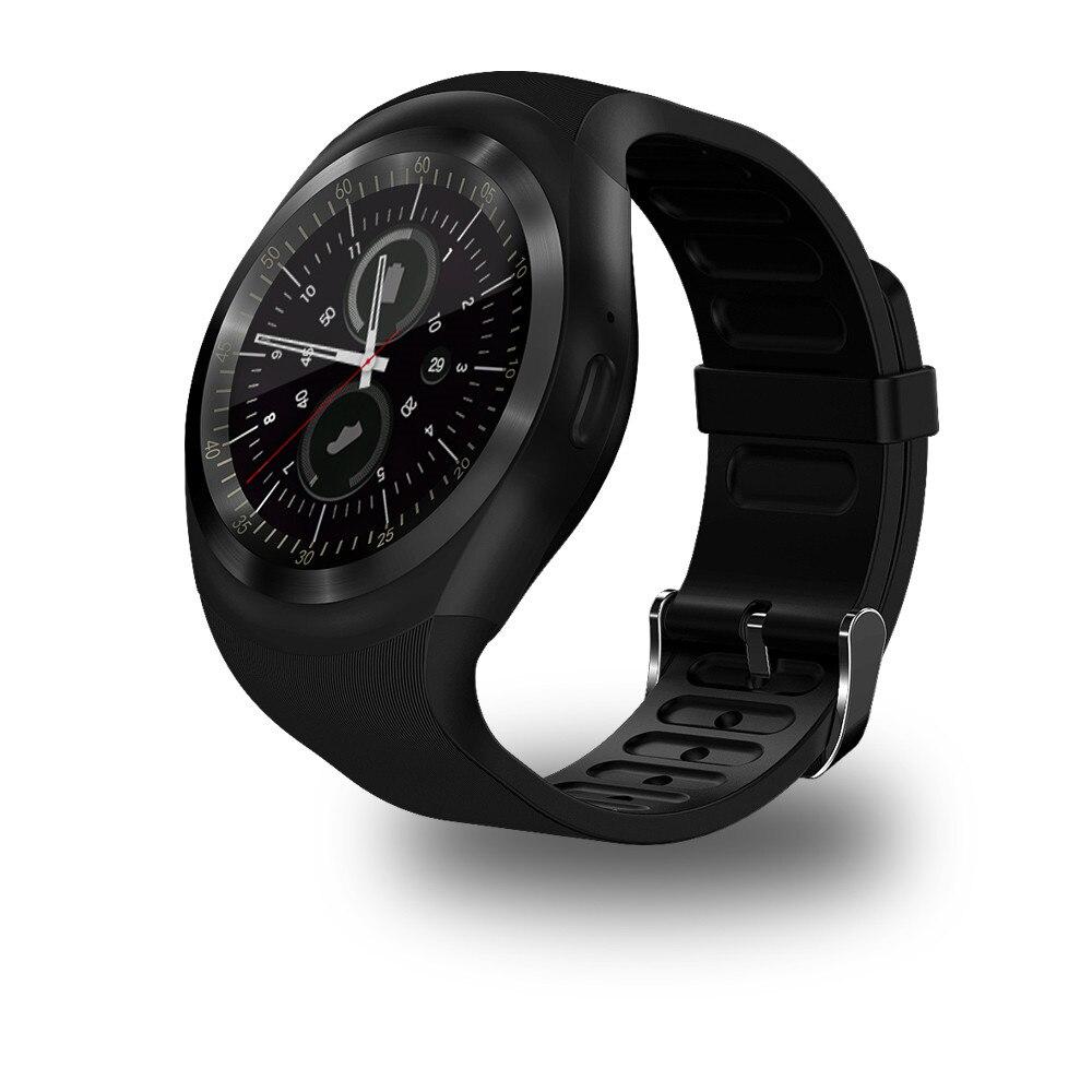 imágenes para Envío libre Y1 Apoyo Reloj Inteligente Nano SIM y Tarjeta de TF con Facebook Y Whatsapp Hombres Mujeres Negocio Smartwatch Para Android IOS