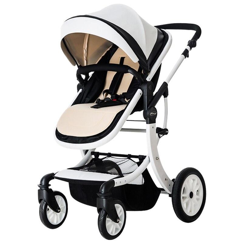 Детская коляска может сидеть, наклоняясь, высокий пейзаж, складной амортизатор, легкая детская коляска для новорожденных, Новый X type frame Increas