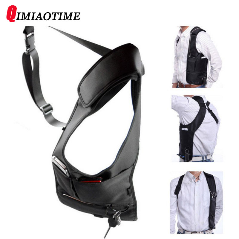 QIMIAOTIME Brand Underarm Bag Fashion Black Backpack Female Travel Security Smart Phone Bag Men Hidden Shoulder Bag G-16 Men Bag