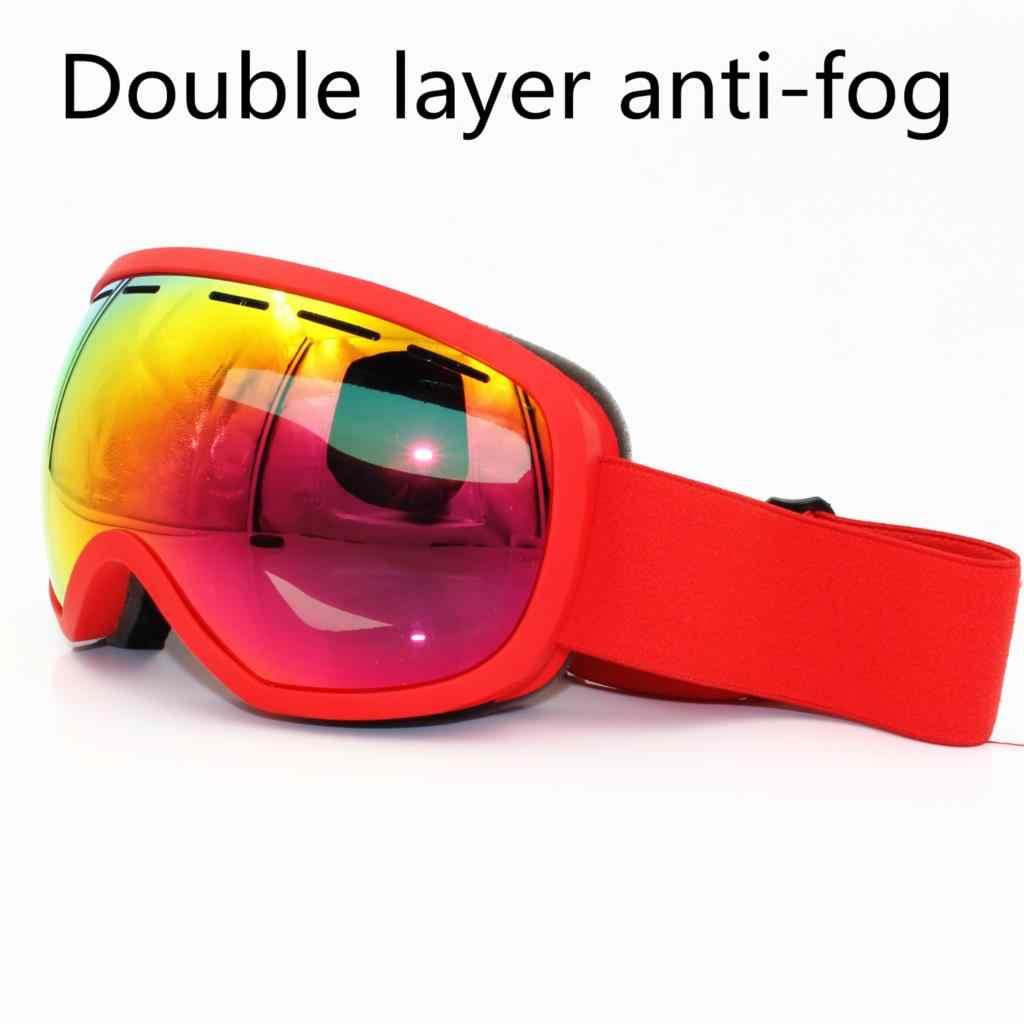 616173ab151 brand ski goggles UV400 Double layers anti-fog big ski mask glasses  polarized sunglasses skiing