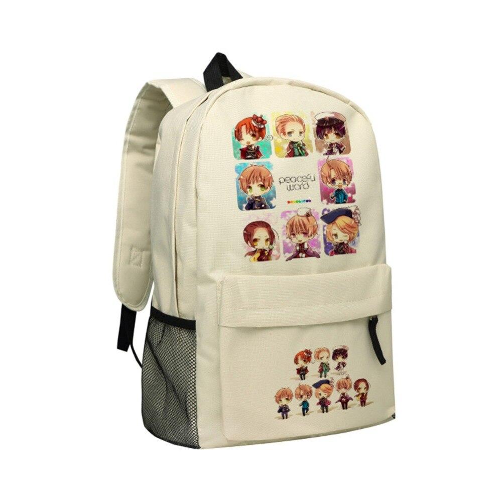 Manga Axis Powers Backpack Teenager School Bag Hetalia Backpacks for Girls men backpack student school bag for teenager boys large capacity trip backpacks laptop backpack for 15 inches mochila masculina