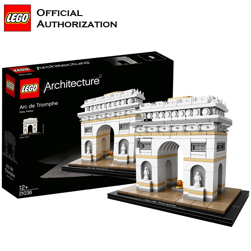 LEGO Building Blocks Toys Architecture Series Toys Arc De Triomphe 386pcs For Travel Box Gift Souvenir Brinquedos For Birthday 2018 new famous architecture series the french arc de triomphe 3d model building blocks classic toys gift