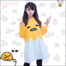 [Stock]Japanese egg!! gudetama Figure concept Hoodie sleepwear Lolita dress Fleece Top Animation