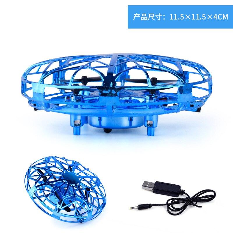 UFO capteur de geste avion Intelligent Suspension aéronef sans pilote (UAV) jouet Mini quatre axes garçon jouets Flash mouche disque enfant cadeau jouets de plein air
