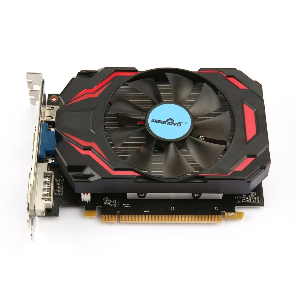 Video card HD7770 4G/128bit GDDR5 Gaming Video Graphics Card One Cooling Fan Gaming Desktop Computer PC Video Graphics Cards yeston geforce gt 1030 gpu 2gb gddr5 64 bit gaming desktop computer pc video graphics cards support