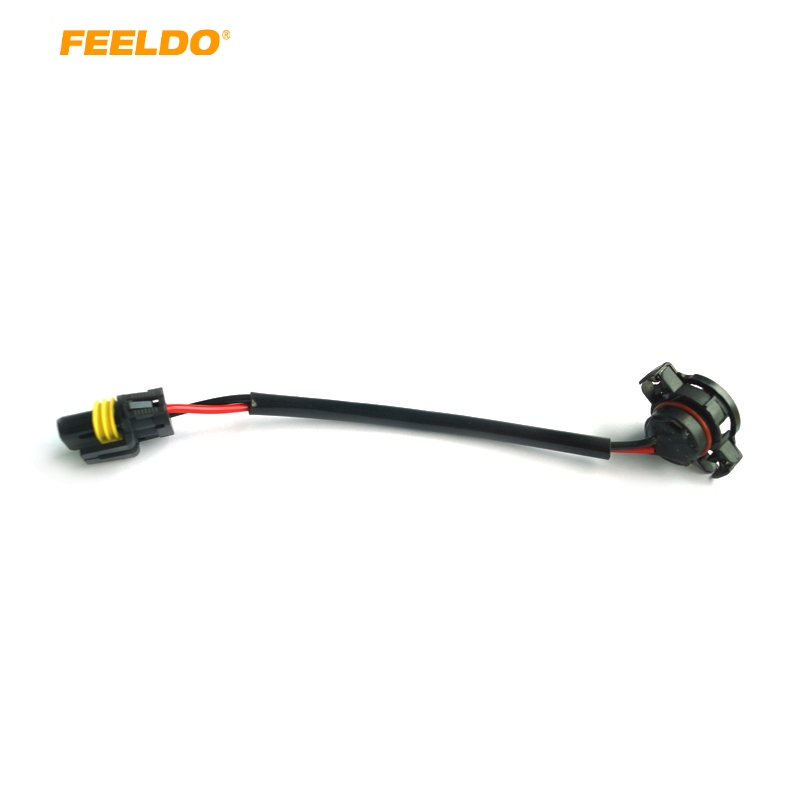 FEELDO 1pc Car <font><b>5202</b></font> <font><b>H16</b></font> to 9006 Wire Harness Cable HID/<font><b>LED</b></font> Conversion Ballast to Stock Socket #CA963 image