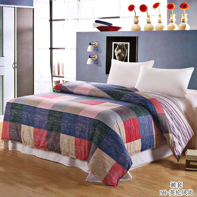 New British Style Plaid Duvet Cover 100% Cotton High Quality Quilt Cover Comforter Case Twin Full Queen King Family BedspreadsNew British Style Plaid Duvet Cover 100% Cotton High Quality Quilt Cover Comforter Case Twin Full Queen King Family Bedspreads