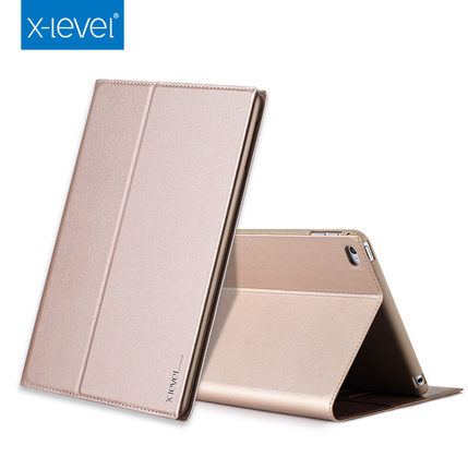 X-level For iPad Air 2 Case Stand Ultra Thin PU Leather Cover Silicon Soft Case For iPad 6 Auto Sleep/Wake up Protective Shell flip left and right stand pu leather case cover for blu vivo air
