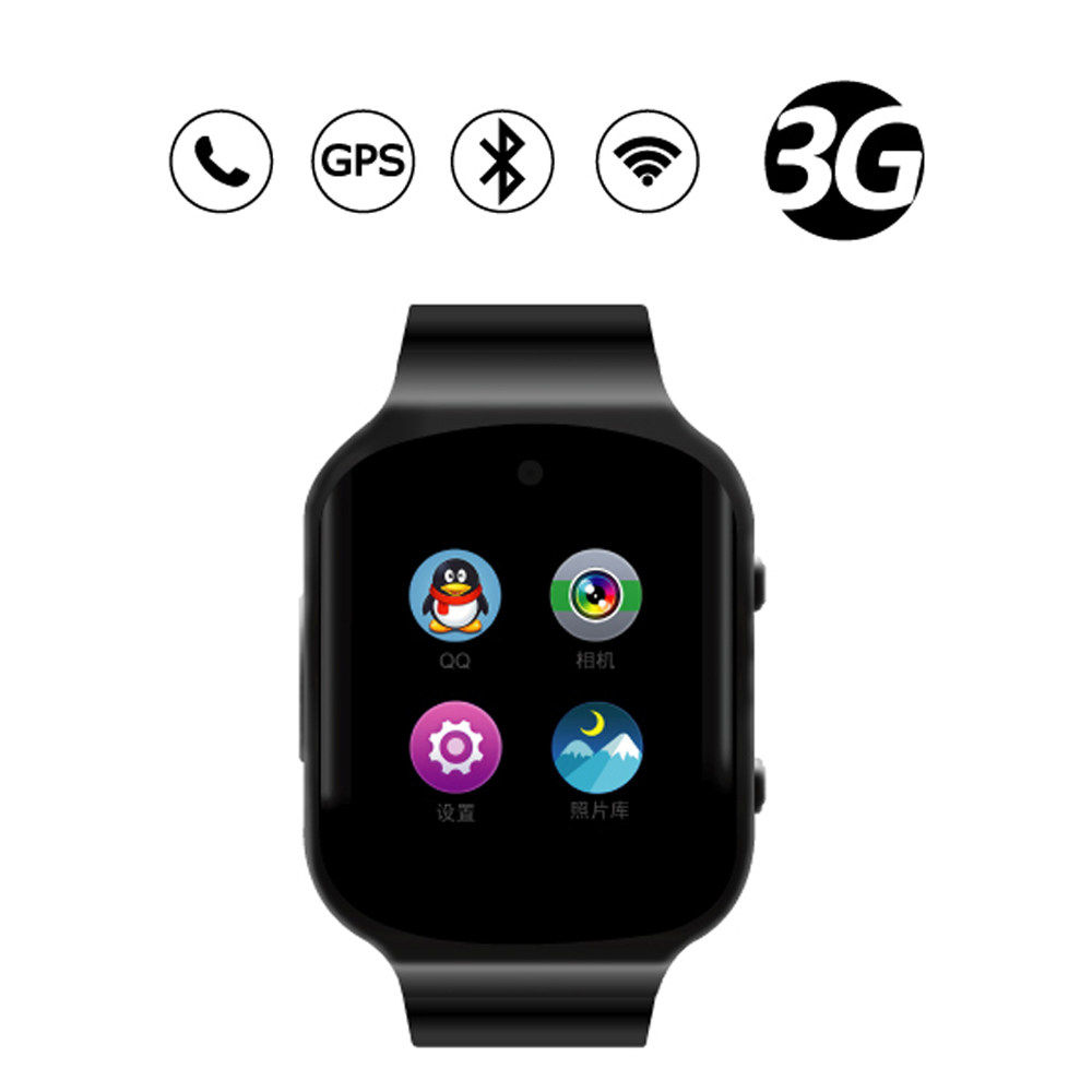 Android Phone Watch Quad Core Smart Watch Wristwatches With 512MB 4GB Heart Rate Monitor 3G GPS