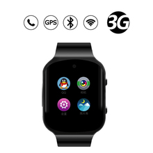 Android-Handy Uhr Quad-Core-Smart Watch Armbanduhren Mit 512 MB + 4 GB Pulsmesser 3G GPS Smartwatch Uhren inteligentes