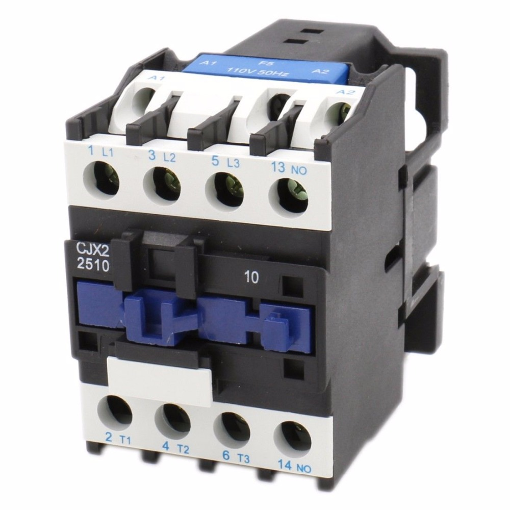 CJX2-2510 AC Motor <font><b>Contactor</b></font> Relay 3 phase <font><b>25A</b></font> 3 Pole 1NO 24VAC 36V 380V <font><b>220V</b></font> Coil Volt Motor Magnetic Contacts 35mm Din Rail image