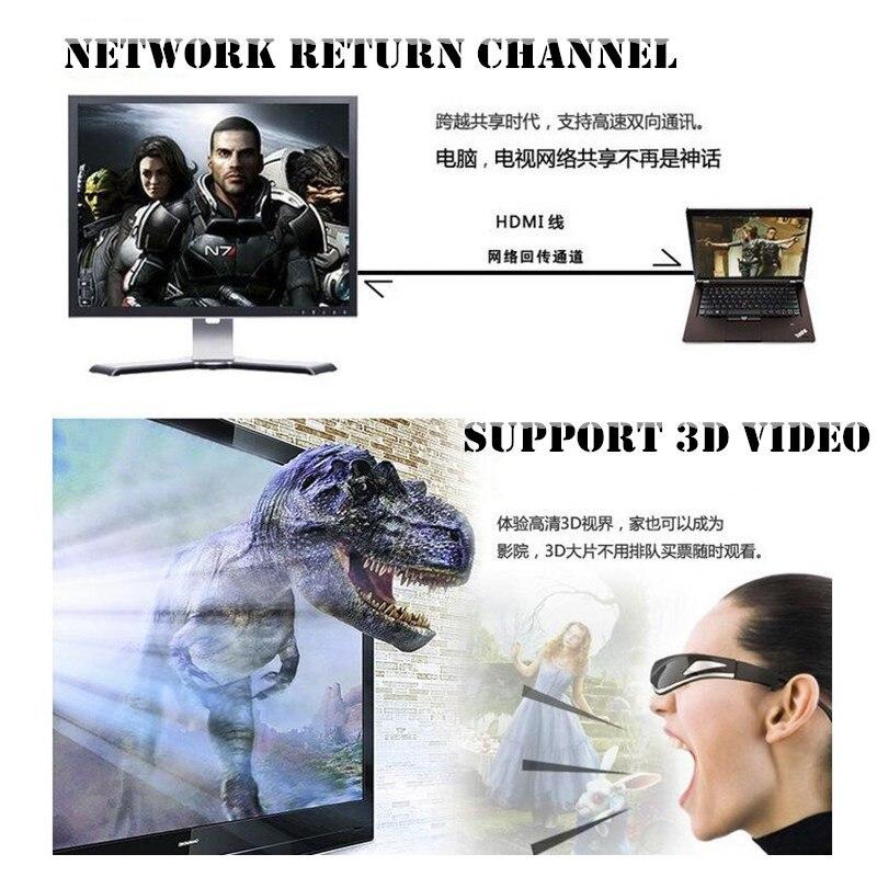 Câble HDMI vers HDMI plaqué or 100 p, maille en Nylon 1.4V HD 1080P pour LCD DVD HDTV XBOX PS3 projecteur PC portable, 1.5M 3M 5 M, Support 3D - 5