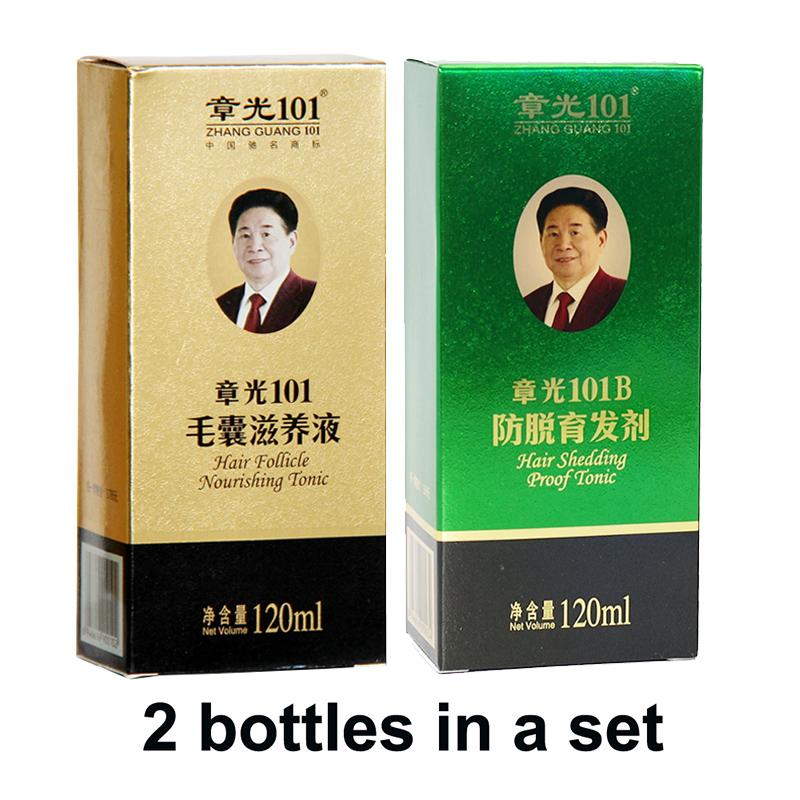 Zhangguang <font><b>101</b></font> <font><b>Hair</b></font> follicle nourishing tonic + 101B, 2 pieces in a lot Anti <font><b>hair</b></font> loss <font><b>Hair</b></font> Regrowth sets 100% original image