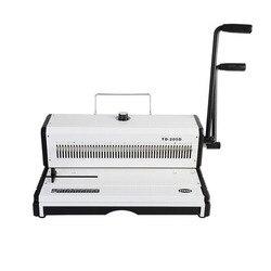 A3 Papier Puncher TD-205D Handleiding Spiraal Draad Bindmachine Papier Cutter Decoratieve Perforator 46 Gaten ponsmachine