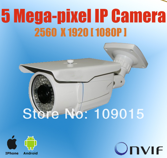 Outdoor CCTV camera 5 Mega pixel IP Camera 2560*1920 Outdoor Network IP Surveillance Camera, Support iPhone and Android view