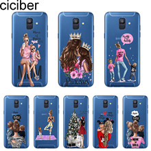 ciciber Cover For Samsung Galaxy A 7 5 6 8 9 S 2016 2017 2018 Star C 9 7 5 10 Pro Plus Phone Case Soft TPU Girls Baby Mom Girl(China)