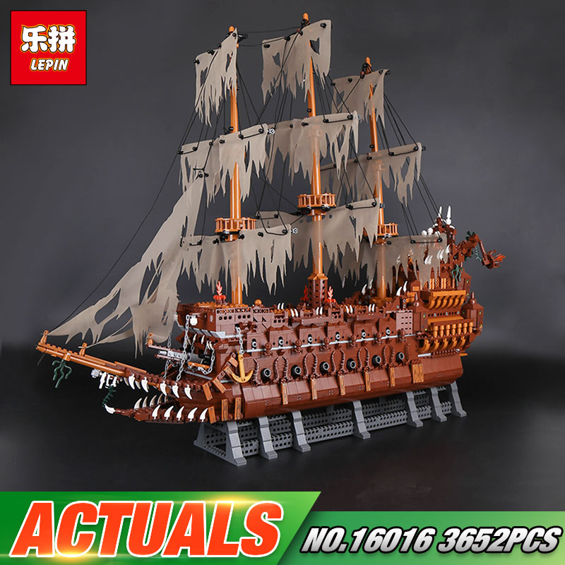 New Lepin 16016 3652Pcs MOC Movies Series The Flying the Netherlands Set Building Blocks Bricks Educational Toys Model Boys Gift lepin 16016 3652pcs movie series flying the dutch blocks bricks toys for children compatible legoing pirates caribbean