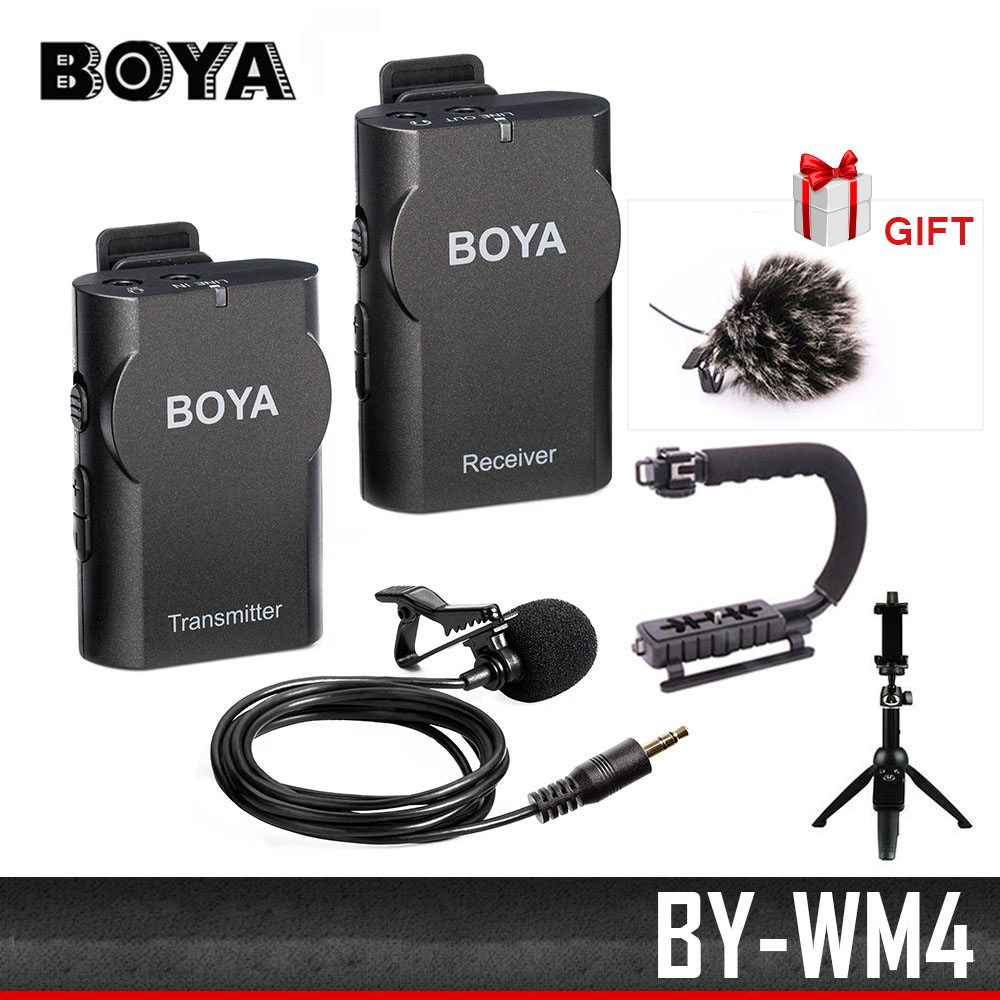 boya by wm4 wireless lavalier microphone system for camcorder iphone android smartphone canon. Black Bedroom Furniture Sets. Home Design Ideas