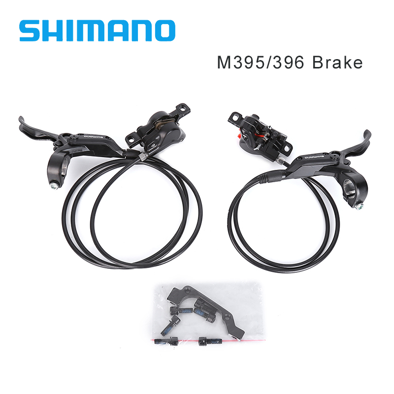 Shimano M395 M396 Brake BR-BL-M395 BL-M396 Hydraulic Bike Bicycle Disc Brake Set Front Rear Calipers Left & Right Levers shimano slx bl m7000 m675 hydraulic disc brake lever left right brake caliper mtb bicycle parts