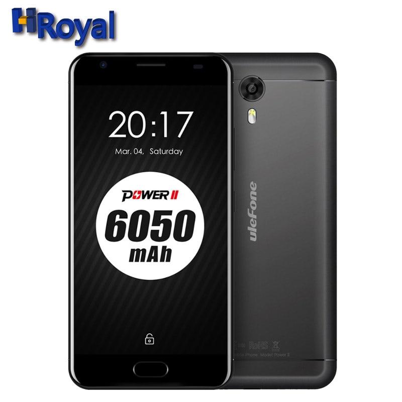Original Ulefone Power 2 Mobile Phone 6050mAh 4G 5.5 Inch FHD MTK6750T Octa Core 4GB RAM 64GB ROM 13MP Fingerprint Smart Phones