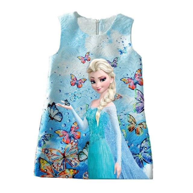 Prinzessin Anna Elsa Kleid Sommer Baby Mädchen Kleid Schmetterling ...
