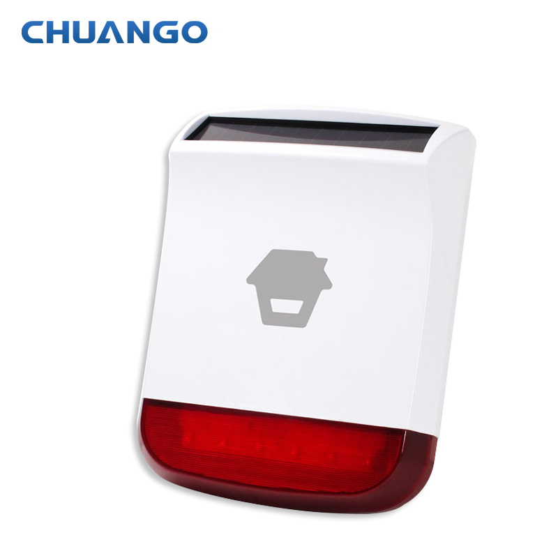 ChuangoSPS-260 Wireless 315mhz Outdoor strobe Solar Siren for A11 B11 G5 Home Security GSM Alarm System with flashing response chuangkesafe dwc 102 chuango intruder detectors wireless door window contact dwc 102 for g5 g3 a11 b11 non alone free shipping
