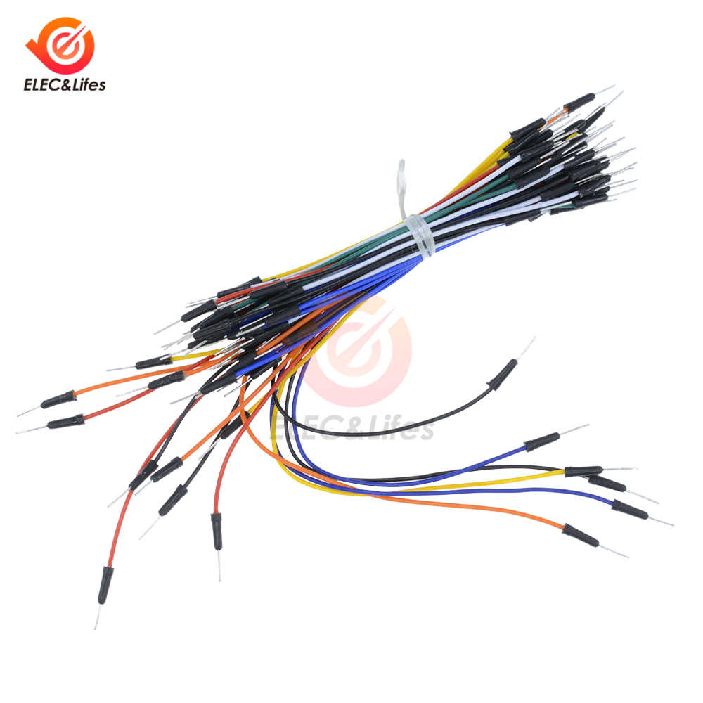 65Pcs/set New Solderless Flexible Breadboard Jumper Wire Cables Bread board plate line Electronic Components DIY