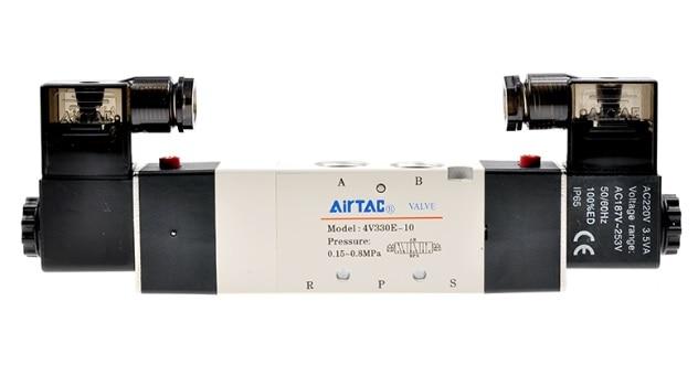 AirTac new original authentic solenoid valve 4V330E-10 AC220V [sa] new japan smc solenoid valve syj5240 5g original authentic spot
