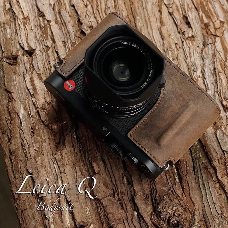 Mr.Stone Handmade Genuine Leather Camera case Video Half Bag Camera Bodysuit For Leica Q Leica Q2 Camera typ116Mr.Stone Handmade Genuine Leather Camera case Video Half Bag Camera Bodysuit For Leica Q Leica Q2 Camera typ116