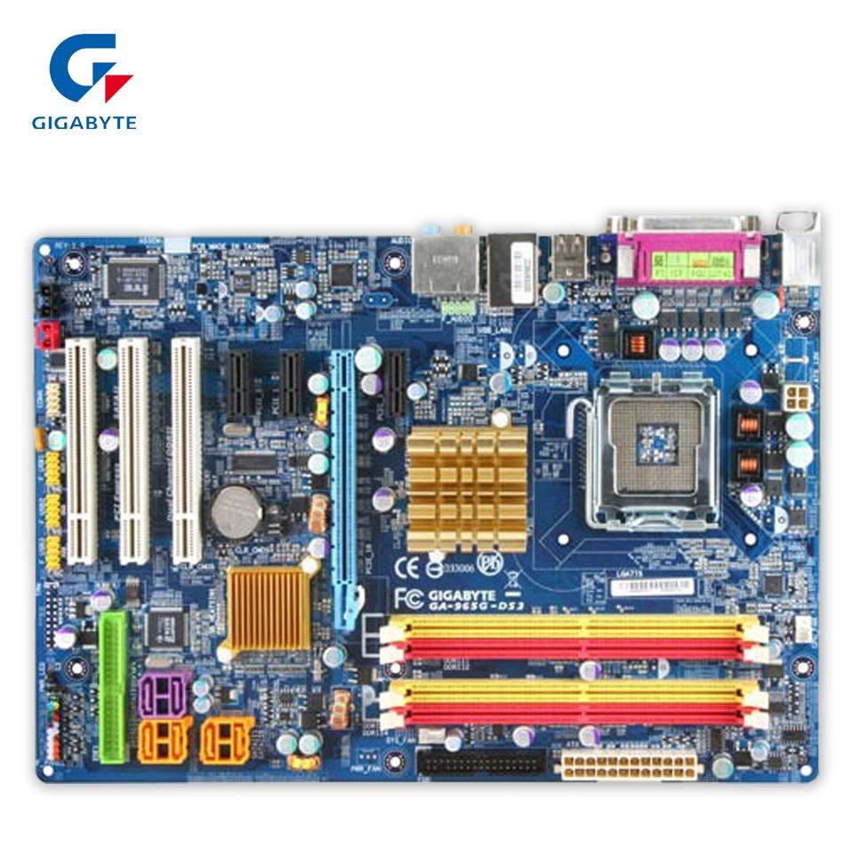 Original Gigabyte GA-965G-DS3 Desktop Motherboard 965G-DS3 G965 LGA 775 DDR2 ATX 100% Fully Test original gigabyte ga 945gcm s2c desktop motherboard 945gcm s2c 945gc lga 775 ddr2 4g sata2 micro atx 100% fully test