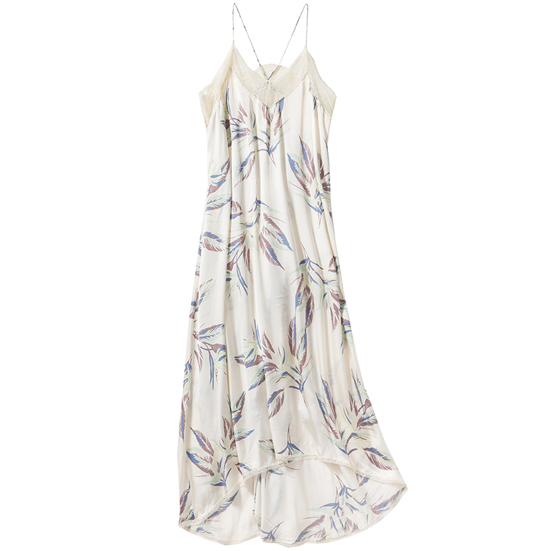 RISTY PARADISE DRESS Long iris Printed TITO KILIM Midi DRESS V neck with Lace Trim thin